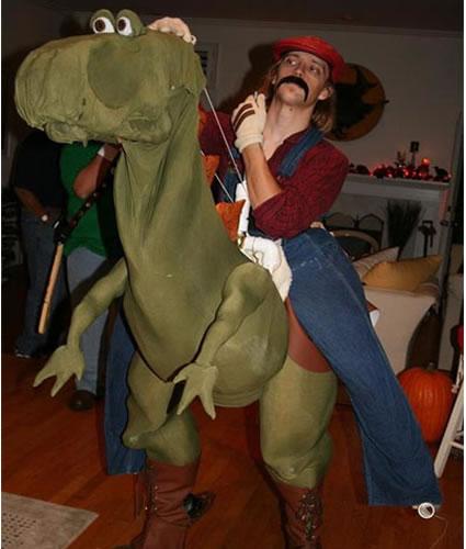 Mário e Yoshi